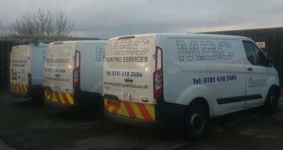 pointing services in the North East of England